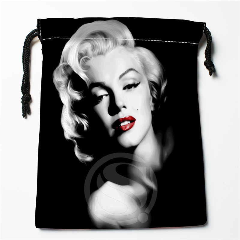 J&w8 New Marilyn Monroe #3 Custom Printed  Receive Bag Compression Type Drawstring Bags Size 18X22cm W725&JYu8