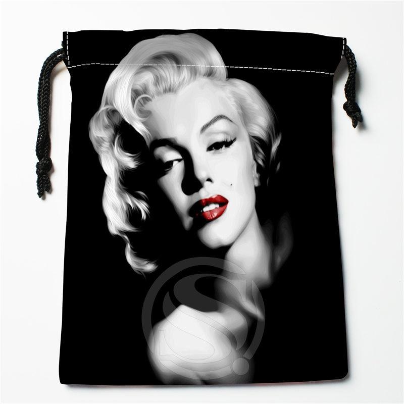 J&w8 New Marilyn Monroe #3 Custom Printed  Receive Bag Compression Type Drawstring Bags Size 18X22cm W725&JYu8