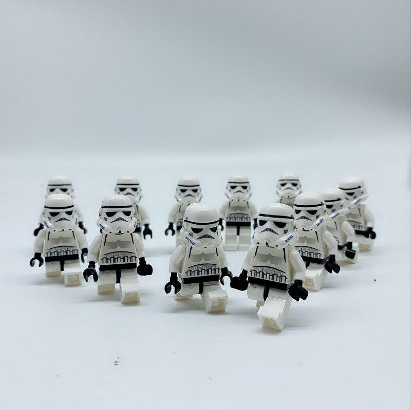 100PCS LOT STAR WARS Storm troopers with gun TROOPER Compatible SW188 Death Star 8087 custom block