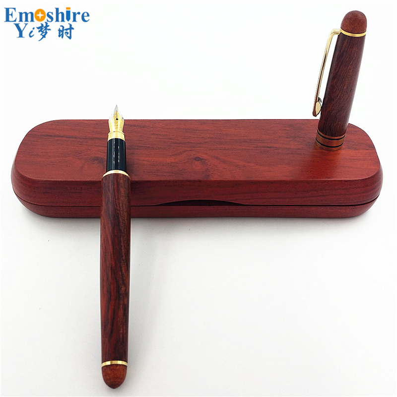Nature Wood Fountain Pen With Wood Gift Box Calligraphy Pens For Writing Luxury Business High Quality Teacher Gift Supplies P171 550 554 model pen bamboo pen fountain sets gift for christmas new year wedding gift pen