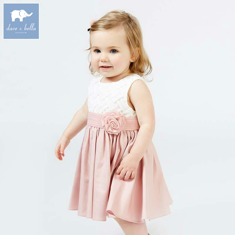 DB7674 dave bella summer girls princess dress children party birthday wedding clothes infant toddler garment baby dress db1553 dave bella summer baby dress infant clothes girls party dress fairy dress toddle 1 pc kid princess dress