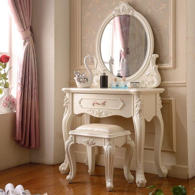 Muebles de arce espejo blanco marfil mesa de maquillaje aparador ...