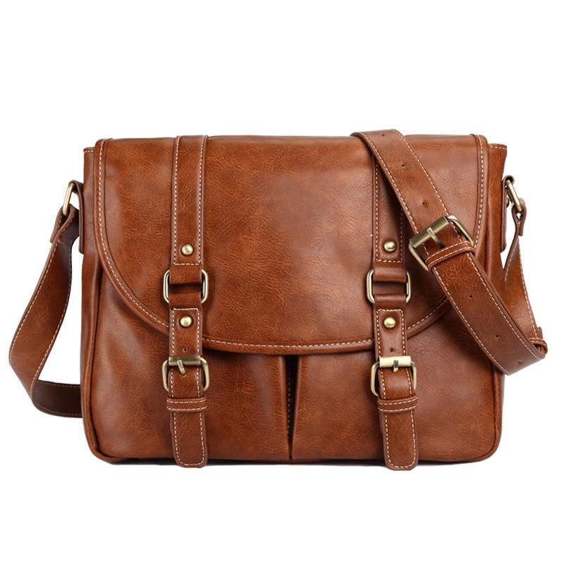 2018 Vintage Men's Messenger Bags Vintage leather Shoulder Bag Men Business Crossbody Bag Laptop Travel Handbag раздвижной большой стеклянный обеденный стол кубика нагано 3 стекло стекло темно коричневое венге