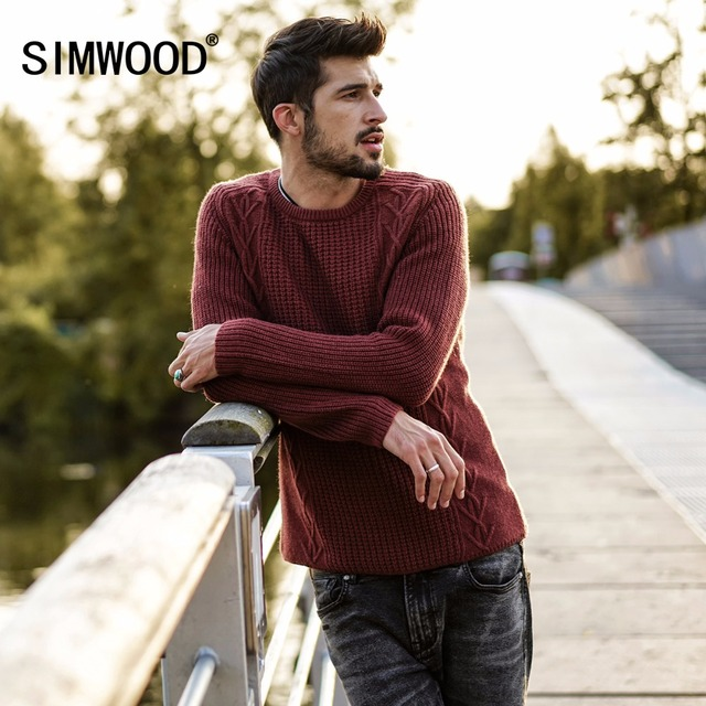 Men Slim Fit Knitted Pullovers Casual  Sweater
