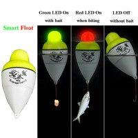 Smart Рыбалка предупреждение о движении поплавка укус рыбы приманки триггер светодиодный свет автоматически ночной электронный умный буй Уд...