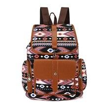 Новые женские парусиновые рюкзаки Дамы Сумка рюкзак школьные сумки для девочек подростков путешествия Boho Богемия Стиль печати сумка