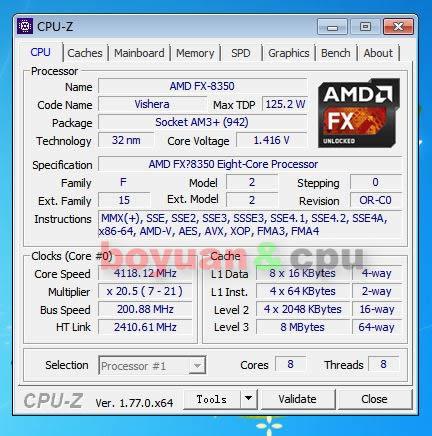 AMD FX Series FX 8350 FX 8350 4.0G 125W FD8350FRW8KHK Socket AM3+-in