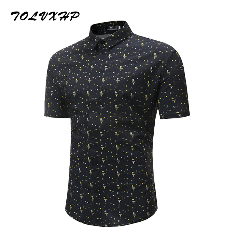 New Arrival Mens Hawaiian Shirt 2018 Male Casual Camisa Masculina Digital Printed Beach Shirts Short Sleeve Brand Clothing 149