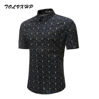 New Arrival Mens Hawaiian Shirt 2018 Male Casual Camisa Masculina Digital Printed Beach Shirts Short Sleeve