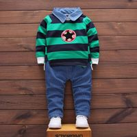 2017 Spring And Autumn Boys Suits Fashion Casual Striped Children S Suits Two Sets Of Kids