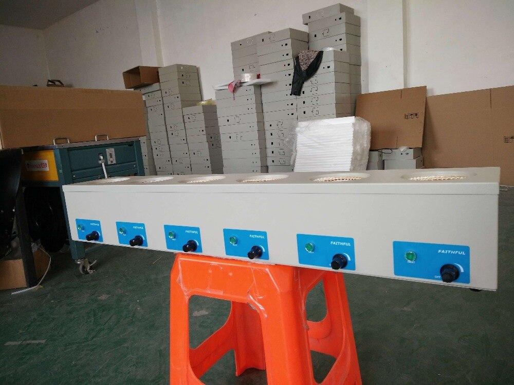 250 мл лаборатории колбонагревателем шесть рядов электронный Управление, максимальная температура 450 градусов! Бесплатная доставка!