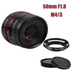 50mm f/1.8 APS-C F1.8 camera Lens for Olympus Panasonic M4/3 M43 MFT EP5 OMD EM5 E-M1 E-M1 Mark II E-M5 E-M5 Mirrorless Camera