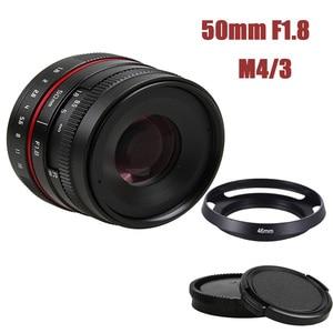 Image 1 - 50mm f/1.8 APS C F1.8 camera Lens for Olympus Panasonic M4/3 M43 MFT EP5 OMD EM5 E M1 E M1 Mark II E M5 E M5 Mirrorless Camera