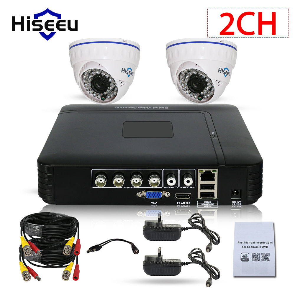 Special Offer CCTV Camera DVR System AHD 720P Kits 2CH CCTV DVR HVR NVR 3 in 1 Video Recorder Infrared Dome Camera Security
