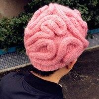 8f86dba691e Super Cool Brain Hats Cerebrum Beanies Solid Colors Handmade Knitting  Brains Hat Kids Adult Halloween Cosmetic