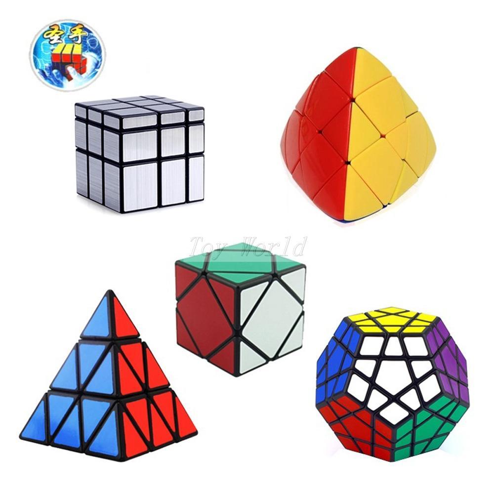 5Pcs/Lot ShengShou Speed magic Cube (Include Skewb, Megaminx Dodecahedron, Pyraminx ,mirror, Mastermorphix)cubo magico de rubick 8pcs set shengshou s magic cubes 3 3 2 2 2x2 3x3 skew sq1 megaminx mastermorphix triangle pyraminx mirror rubix rubic cube