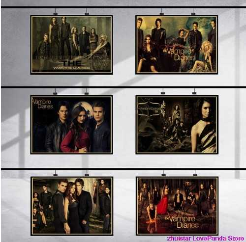 The Vampire Diaries Full 5D Diy Diamond Embroidery Cross Stitch Full Round Drill 5D DIY Diamond Painting Needlework Crafts gift