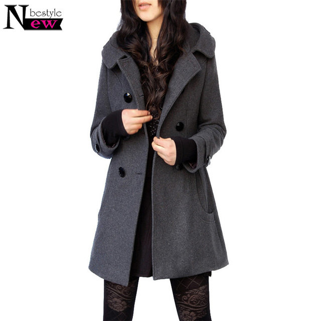 c7f1487774df1 New Winter Jacket Women Coat Casaco Feminino Sobretudo Femininos De Inverno  Black Woolen Trench Coat Women Jacket Warm Overcoat