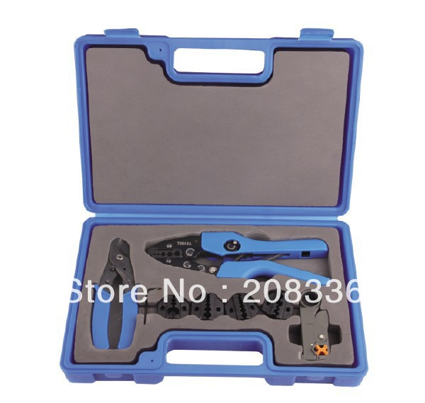 Manual Coaxial Crimping Tool Hand Crimping Tool Kit T05H-5A Tool Kits for coaxial cable with 5 die sets + cutter+coax stripper an 02h1 high quality hand crimping tool for coax crimping rg58 59 62