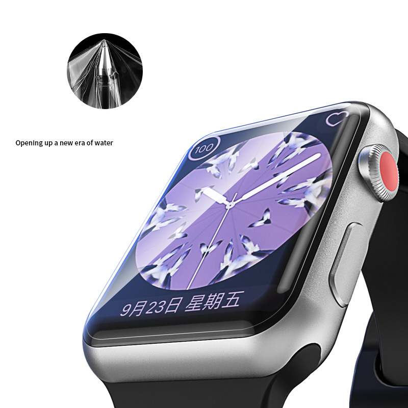 Image 2 - Suntaiho 10D Full Cover Protector film For Apple Watch Screen Protector 40 44mm for i Watch 4 film Series 1/2/3/4 not glass film-in Phone Screen Protectors from Cellphones & Telecommunications