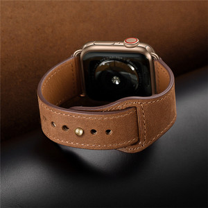 Image 5 - Retro leather band watches men Genuine For Apple Watch Band 44mm 40mm For Apple WatchBands 42mm 38mm Series 4 3 2 1 Watch Strap