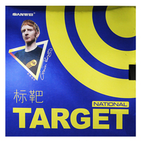 SANWEI Target National With 1.8mm Blue Sponge Table Tennis Rubber good control and spin Pimples In Ping Pong Rubber