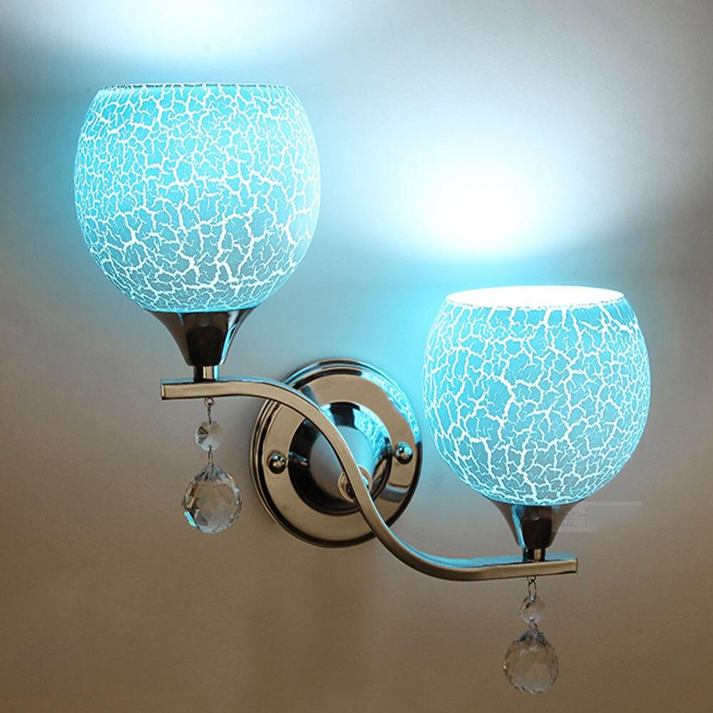 Светодиодный настенный светильник Лофт lighting110v-220v простой настенное бра E27 белый/розовый/синий прикроватные тумбочки, настенные Лампы для м...
