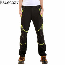 Facecozy Women Spring Summer Quick Dry Hiking Trekking Sports Trousers Outdoor Patchwork Style UV Protection Climbing