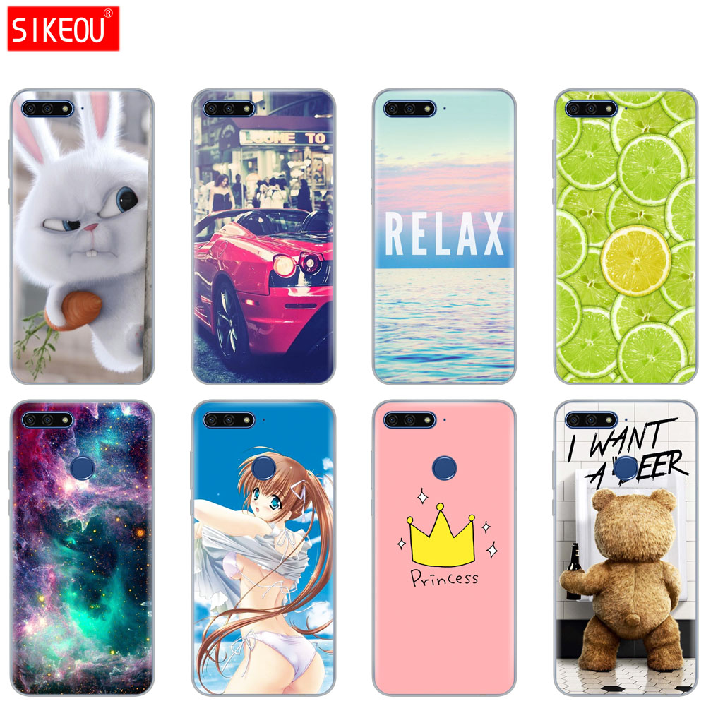 differently d9097 f4b26 Cover Phone Case For Huawei Y6 2018/Y6 Prime Soft Tpu Sillicone ...