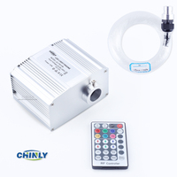 LED Fiber Optic Star Ceiling Lights Kit 200pcs 0 75mm 2M Optical Fiber Cree Chip 7W
