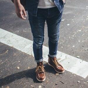 Image 5 - MADEN uomo Slim Skninny Tapered Fit Stretch Lavato Fashion Biker Jeans