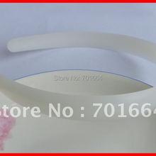 20 шт 17 мм белые простые пластиковые повязки для волос для DIY аксессуары для волос. Raw повязки на голову