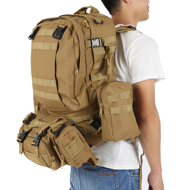 50L Outdoor Backpack Molle 600D Nylon Waterproof Assault Army Military Tactical Rucksacks Travel Camping Hiking Survival Bags