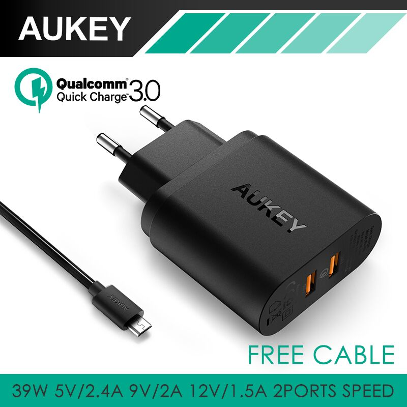 AUKEY 36W Dual USB Port Travel Wall Chargers