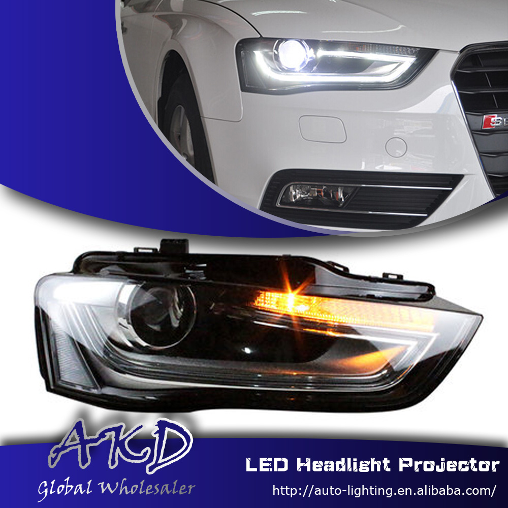 One stop shopping styling for audi a4 headlights high configuration a4 b9 led drl lens double beam h7 hid xenon car accessories in car light assembly from