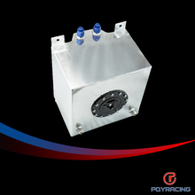 PQY RACING-20L Aluminum Fuel Surge tank with cap/foam inside mirror polished  Fuel cell  without sensor  PQY-TK14