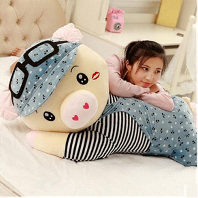 Fancytrader Большая Жирная Свинья Плюшевые Игрушки Огромный Фаршированные Лежа Поросенок Подушка Кукла 120 см Лучшие Подарки для Детей