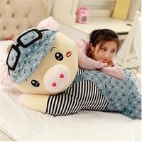 Fancytrader Big Fat Pig Plush Toy Huge Stuffed Lying Piggy Pillow Doll 120cm Best Gifts for Children