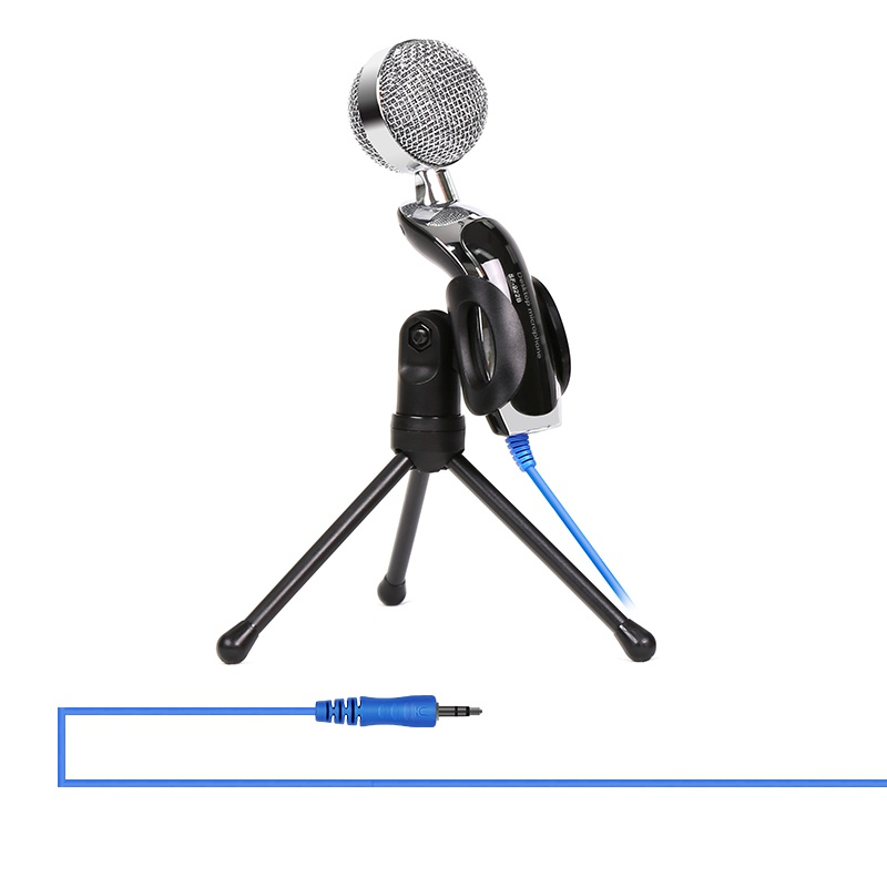Universal Plug & Play USB Microphone Home Studio Microphone À Condensateur pour Des Enregistrements Skype pour YouTube Google Recherche Vocale À Vapeur