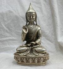 Tibet Tibetan Buddhism Silver Bronze statue Tsongkhapa Buddha Statue