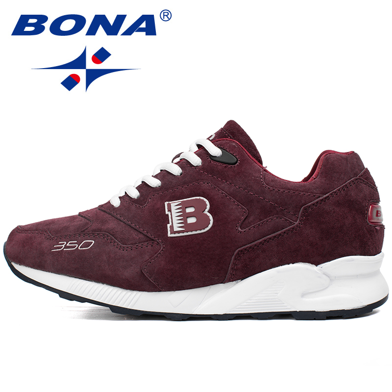 BONA New Suede Style Men Running Shoes LaceUp Sport Shoes Outdoor Walking Sneakers Comfortable Athletic Shoes Fast Free Shipping