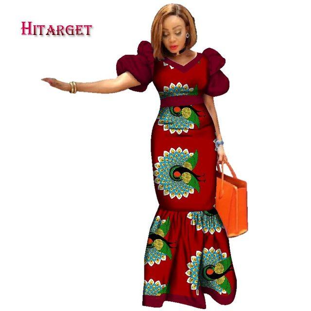 510c6d43ea0d3 2018-Nouveau-Bazin-Riche-Africain-Robes -pour-Femmes-Imprimer-Splice-Manches-Bouffantes-Robes-Longues -Africaine-Dashiki.jpg 640x640.jpg