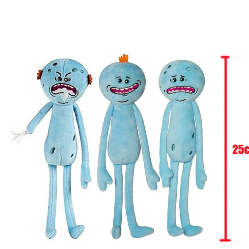 New Rick and Morty Happy Sad Anger Meeseeks Stuffed Plush Toys Doll Figure Kids Gift 25cm image