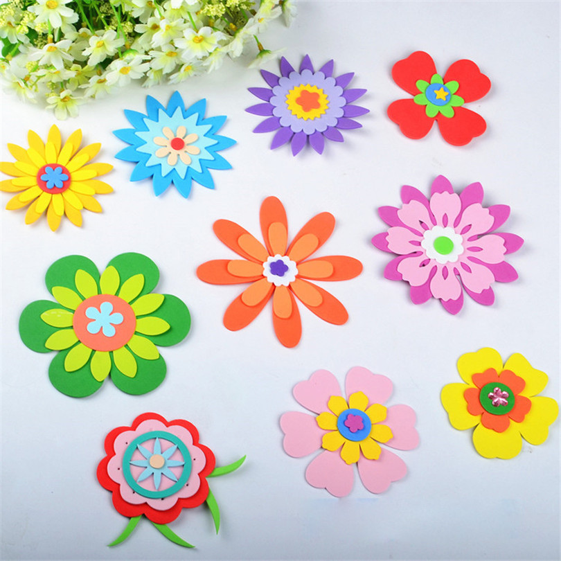 Eva Wall Flower Accent: 3D Sticker Beautiful Flower Decorative EVA Foam Patch