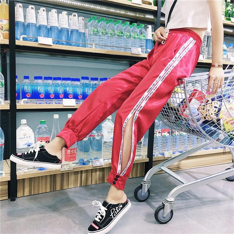 Hiphop purple sweatpants female hip hop Korean version of the tide student loose Dance pants 15