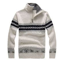 2016 new autumn and winter Men's Sweaters Men's Casual Collar Sweater Thick Section Korean Cultivating Long-sleeved Sweater