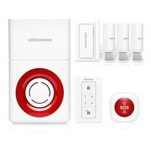 System alarmowy w domu bezpieczeństwo strona główna 130db zewnętrzna bezprzewodowa syrena głośny alarm powiadomienie sms Auto Call anty złodziej wykrywacz ruchu 868MHZ