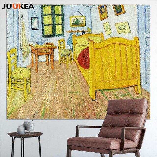 Artistes Vincent Van Gogh Chambre à Coucher à Arles, Toile Art Impression  Peinture Affiche,