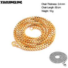 XIAOJINGLING Snake Chain Gold/Silver Color Long Necklace For Women Men Wholesale Hip Hop Party Jewelry Concert Neck Accessories(China)