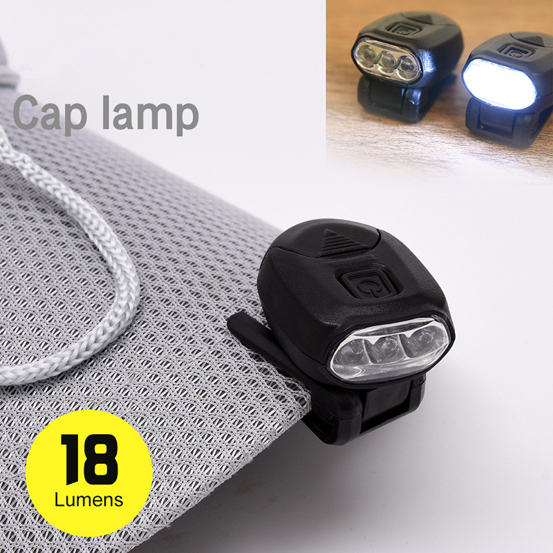 Ultra Front Light Cap Lamp 3 LEDs Headlamp Clip Hand Free For Fishing Camping Hiking Hunting